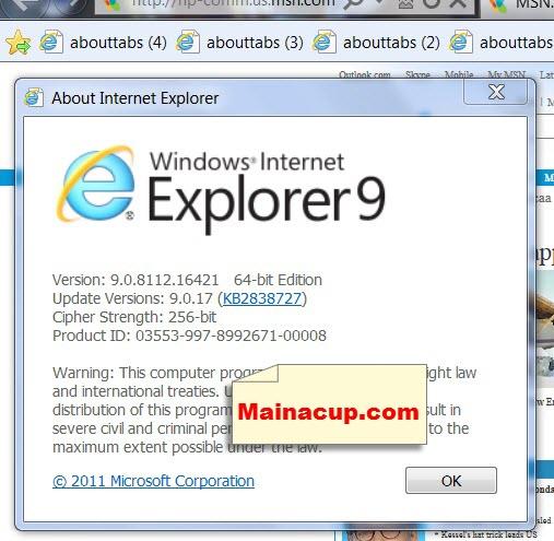 ถอนการติดตั้ง IE 10 และกลับไปใช้ IE 9 ใน Windows 7 remove ie10 and return install ie9