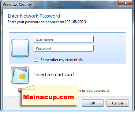 How to clear network password