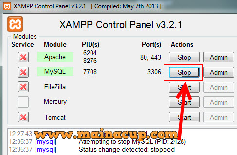 [Solved] #1045 cannot log in to the mysql server phpmyadmin