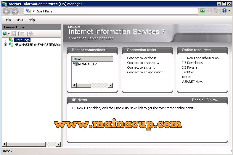 การติดตั้ง IIS7 บน Windows Server 2008 R2