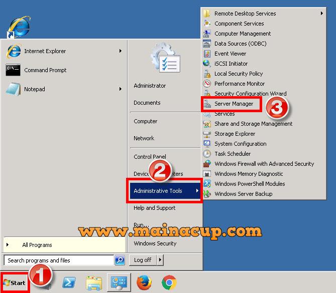 การติดตั้ง FTP บน Windows Server 2008 R2 (IIS7)
