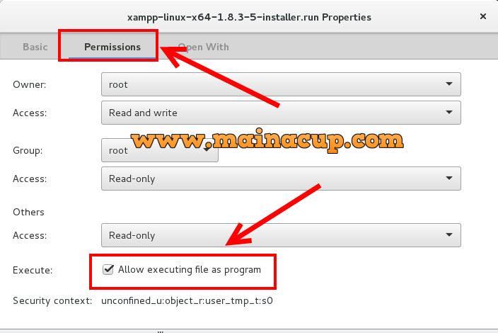 การติดตั้ง XAMPP บน Linux CentOS 7 แบบ GUI