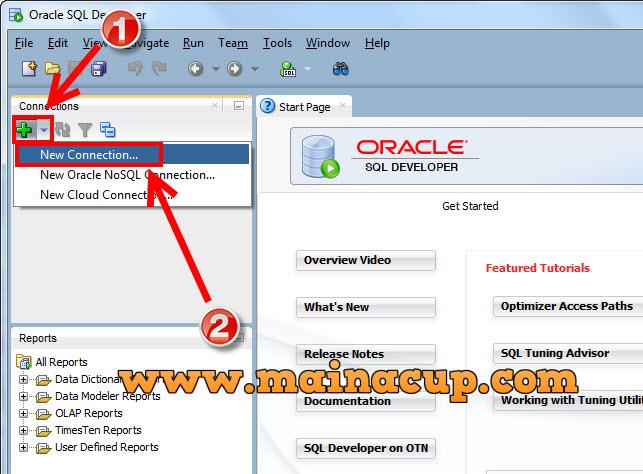 การใช้งาน SQL Developer ติดต่อกับ Oracle 11g Express