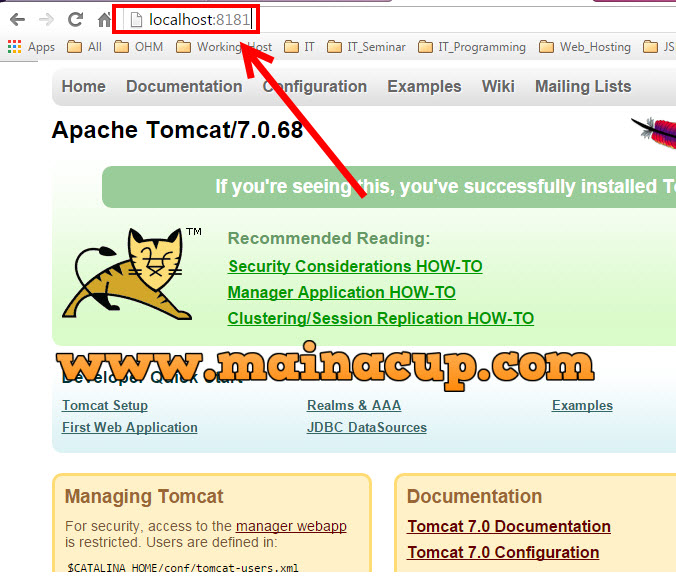 how to change apache tomcat port from  8080 to 8181