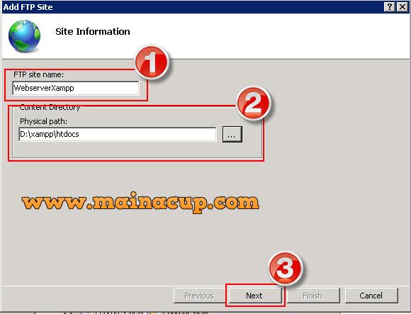 วิธีการตั้งค่า FTP Account บน Windows Server 2008 R2 ด้วย IIS 7