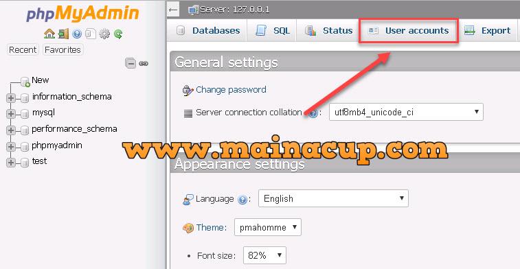 change password mysql with phpmyadmin เปลี่ยน Password ฐานข้อมูล Mysql ด้วย phpmyadmin