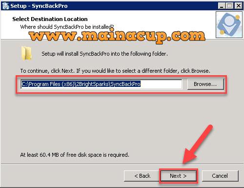 การติดตั้งโปรแกรม Syncback Backup