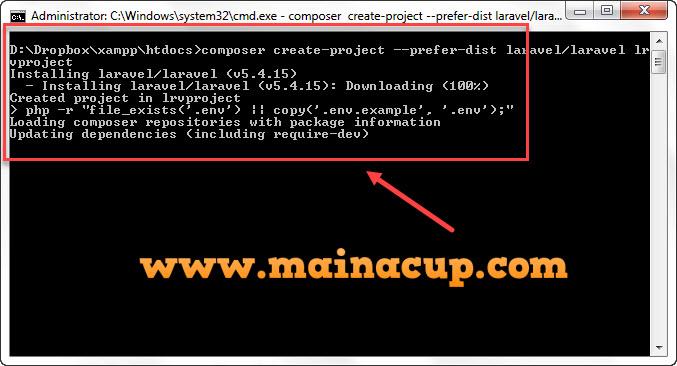 การติดตั้ง Laravel 5.4 กับ Xampp บน Windows  7