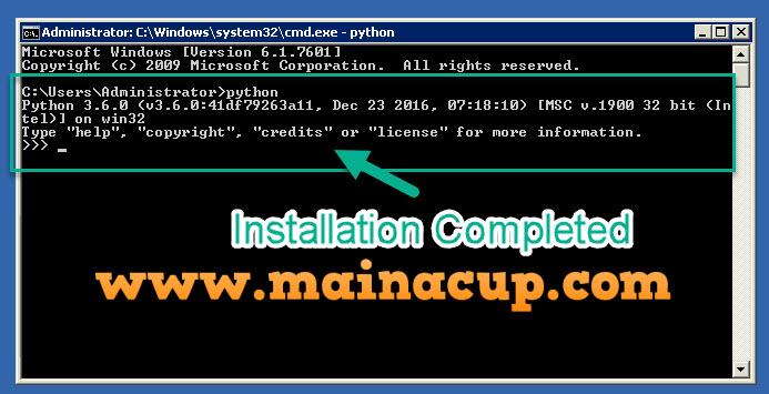 การติดตั้ง ไพธอน Python 3.6 บน Windows 7