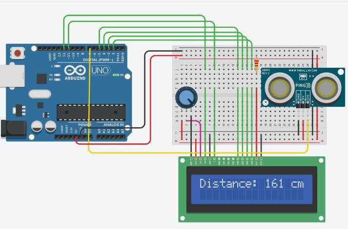 การวัดระยะทางด้วย Ultrasonic Sensor Module (HC-SR04) แสดงผลผ่านหน้าจอ LCD 16×2 ด้วย Arduino