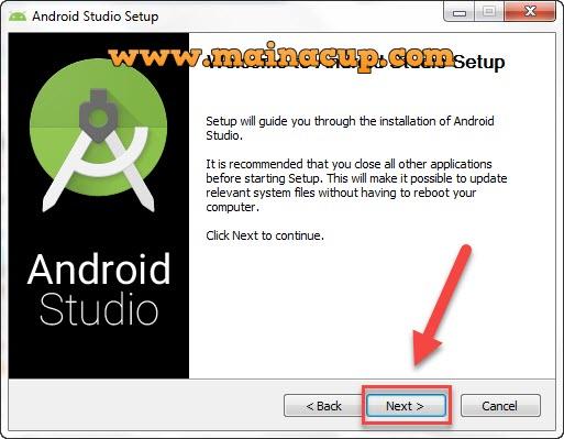การติดตั้ง android studio บน Windows 7