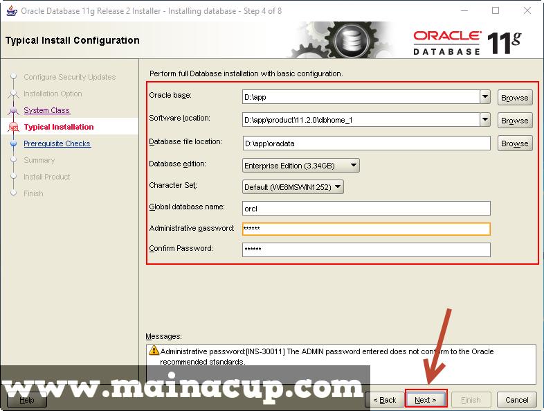 การติดตั้ง Oracle 11g R2 บน Windows 10 64Bit