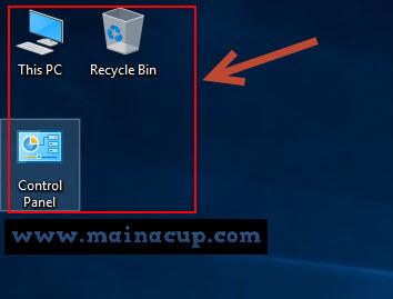 วิธีตั้งค่าให้ Icon My Computer / This PC มาแสดงบน  Desktop ของ Windows 10