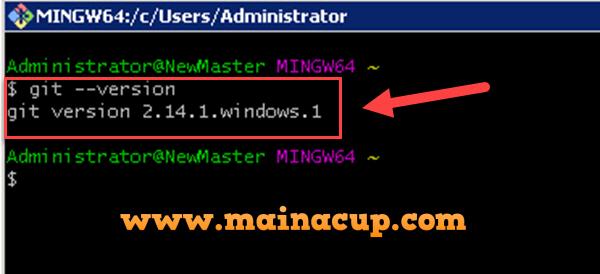 การติดตั้ง Git สำหรับ Windows