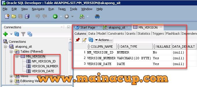 การสร้าง Sequence บน Oracle 11g  ผ่าน Sql Developer