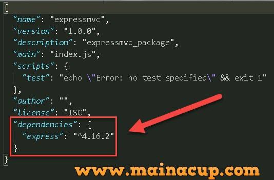 การติดตั้ง Express JS บน Windows
