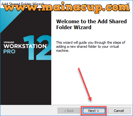 การ Share Folder บน  VMware Workstation