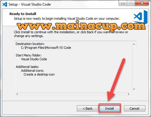 การติดตั้ง visual studio code IDE บน Windows