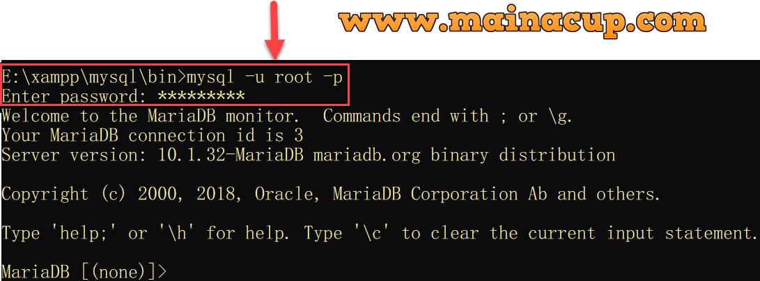 วิธีการเปลี่ยน Password Root ของ Mysql หรือ MariaDB บน Windows ด้วย Command Line