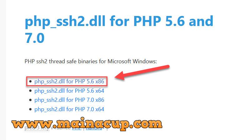 วิธีติดตั้ง sftp ssh2 กับ PHP 5.6 บน Windows Server