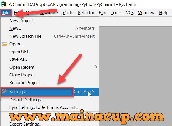 การติดตั้ง Python Package ด้วย Pycharmรับเขียนโปรแกรม PHP