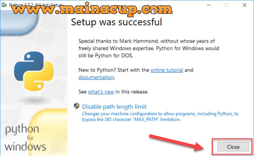 การติดตั้ง python 3.7 บน Windows