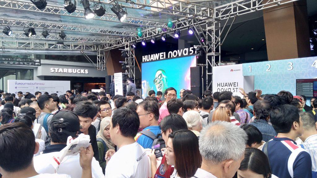 งานเปิดตัว HUAWEI NOVA 5T ที่ Siam Square One