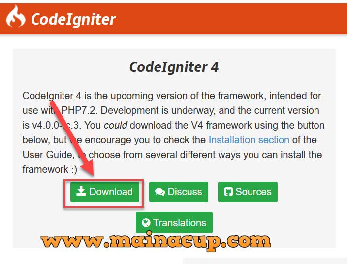 การติดตั้ง PHP Codeigniter 4