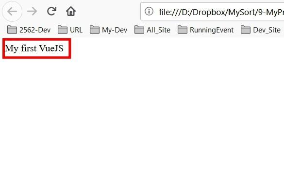 แสดงผล Text บน HTML Body ด้วย VueJS