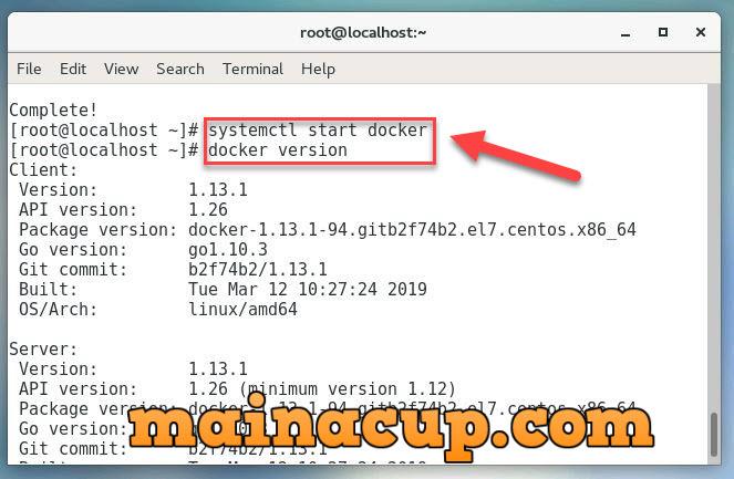 การติดตั้ง Docker บน Linux Cent OS7