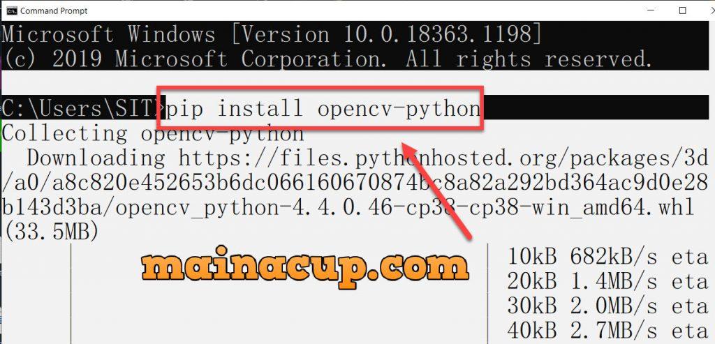 ติดตั้ง OpenCV Python
