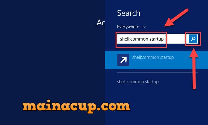 วิธีหา startup folder บน Windows Server 2012