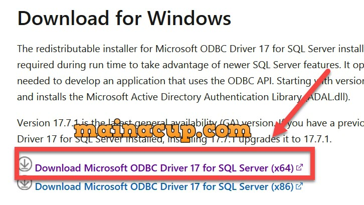 ติดตั้ง SQLSRV Extension สำหรับ php 7.4 Microsoft Drivers for PHP for SQL Server