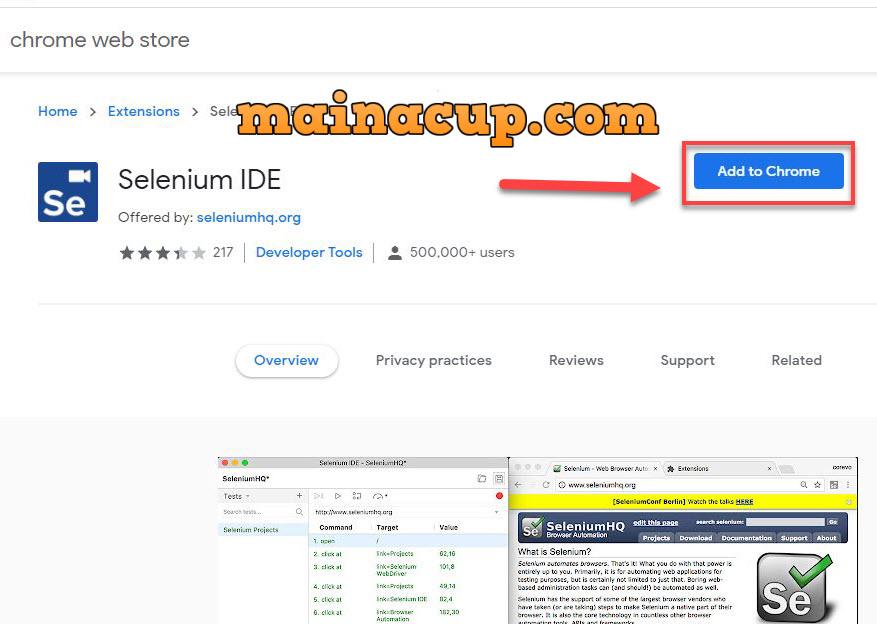 ติดตั้ง Selenium IDE บน Chrome Extension