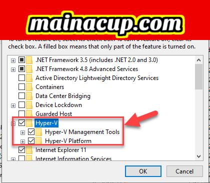 enable hyper-v service windows 10 docker